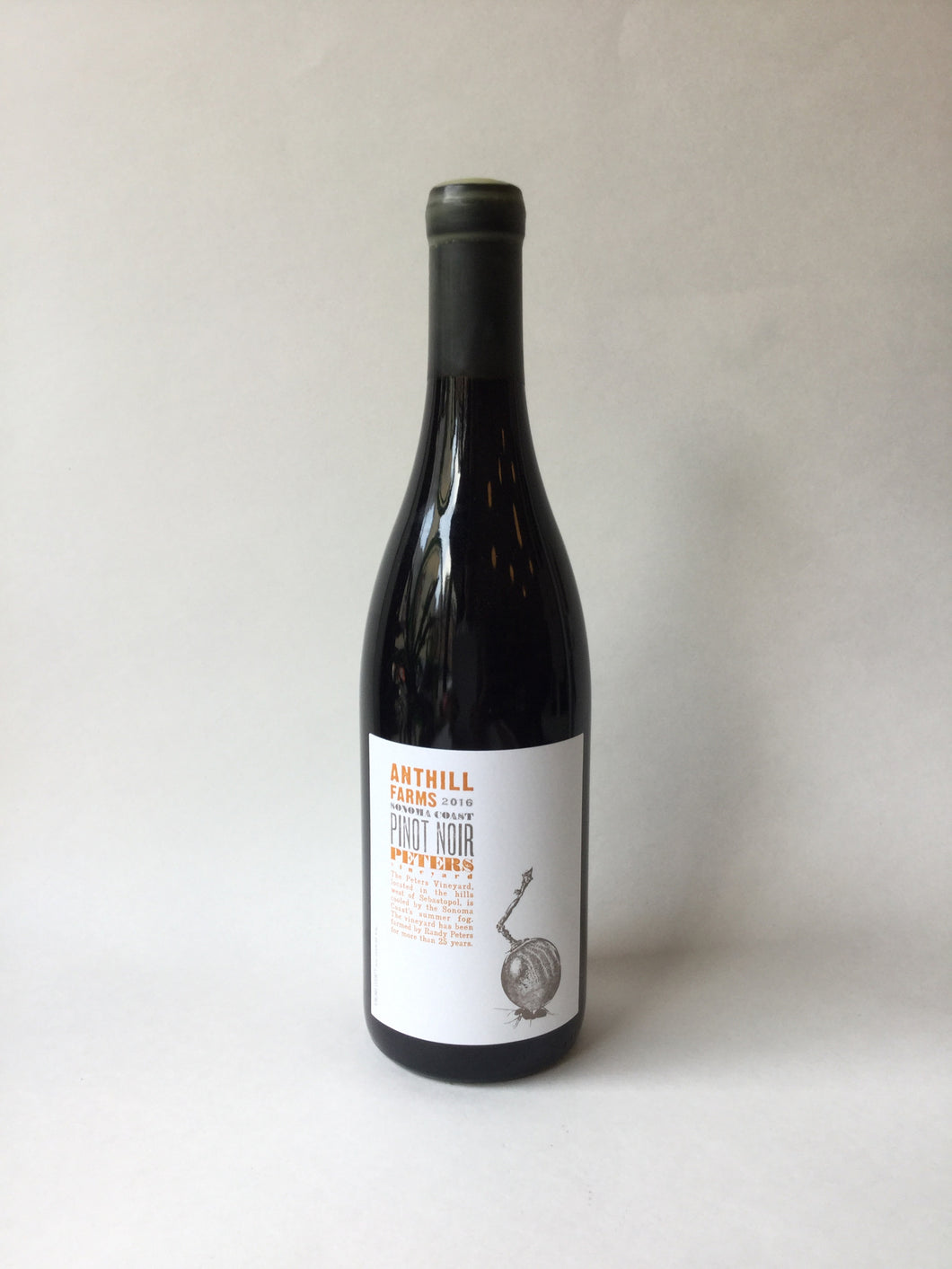 Anthill Farms Sonoma Coast Pinot Noir 'Peters Vineyard' 2016, 750ml - Frankly Wines