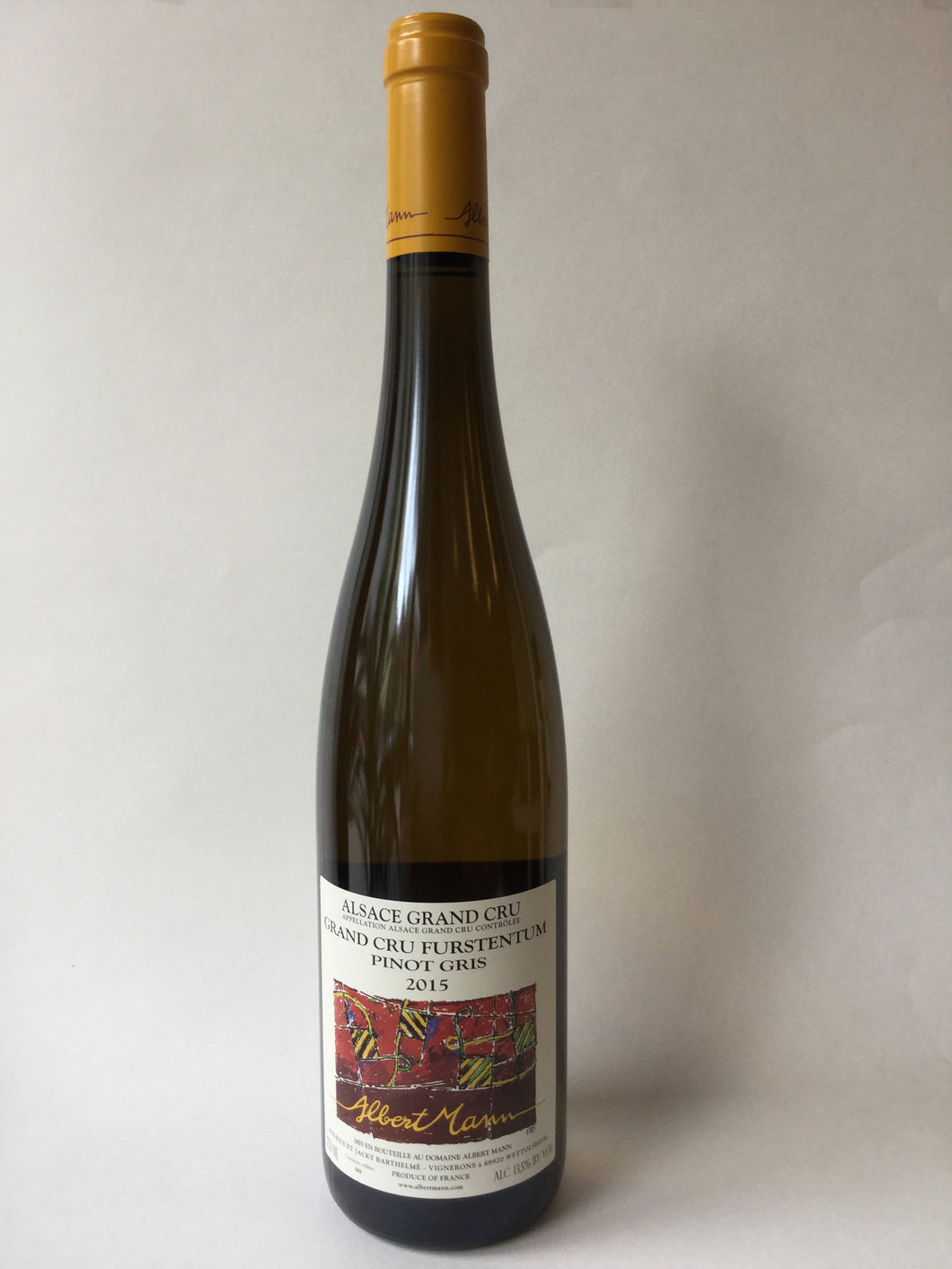 Albert Mann Pinot Gris Grand Cru 'Furstentum' 2015,750ml - Frankly Wines