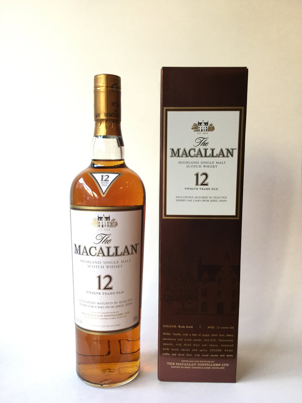 The Macallan, Highland Single Malt Scotch Whisky, 12 Years Old, 750ml - Frankly Wines