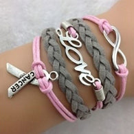 Infinity Wish Love Breast Cancer Awareness Charm Bracelet - Love Accessorized