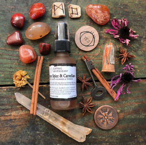 Autumn Spice & Carnelian Mist // Herbal Cleanser & Toner