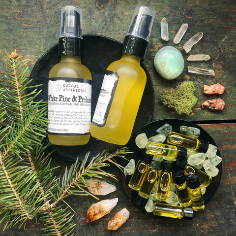 White Pine & Prehnite // Grounding Body Oil