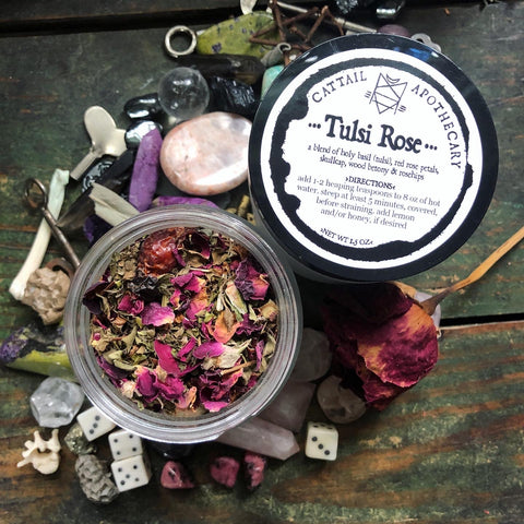 Tulsi Rose // Loose Leaf Herbal Tea Blend