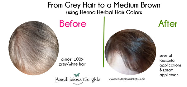 Dye Gray Hair Chocolate Brown using Henna