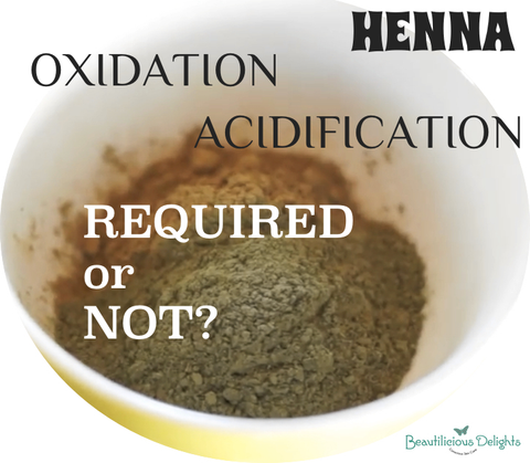 HENNA APPLICATION OXIDATION ACIDIFICATION BEAUTYFOODTIPS