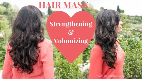 Strengthening Volumizing Hair Mask for Damaged Thin Hair