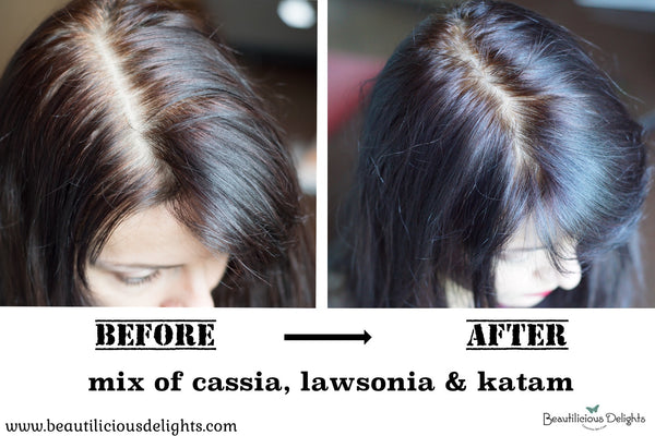 cover grey hair naturally with henna before and after photo
