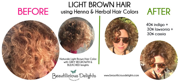 light brown hair color henna natural herbal hair colors