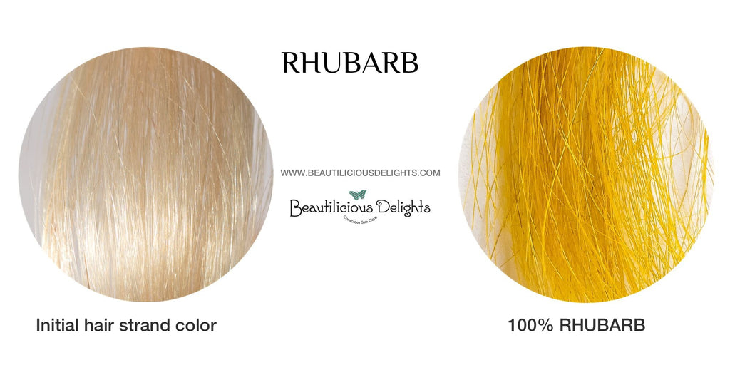 Blonde Henna Rhubarb Natural Hair Color For Light Blond Hair