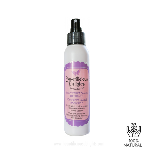 Natural Volumizing Spray for fine hair beautilicious delights promo