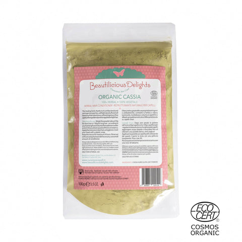 Organic Cassia Obovata (Neutral Henna) Natural Hair Treatment for Damaged Hair COSMOS ORGANIC