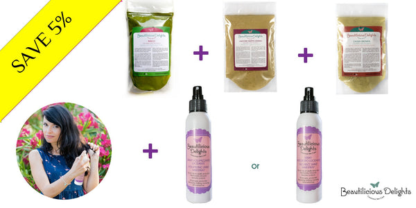 "Organic ""Herbal Hair Care"" Gift Hair Set 100g"