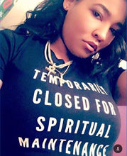 Spiritual Maintenance Black Women's Crop Top
