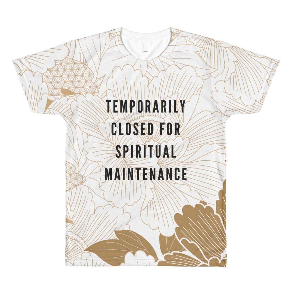 Spiritual Maintenance Golden Flower Unisex T-Shirt