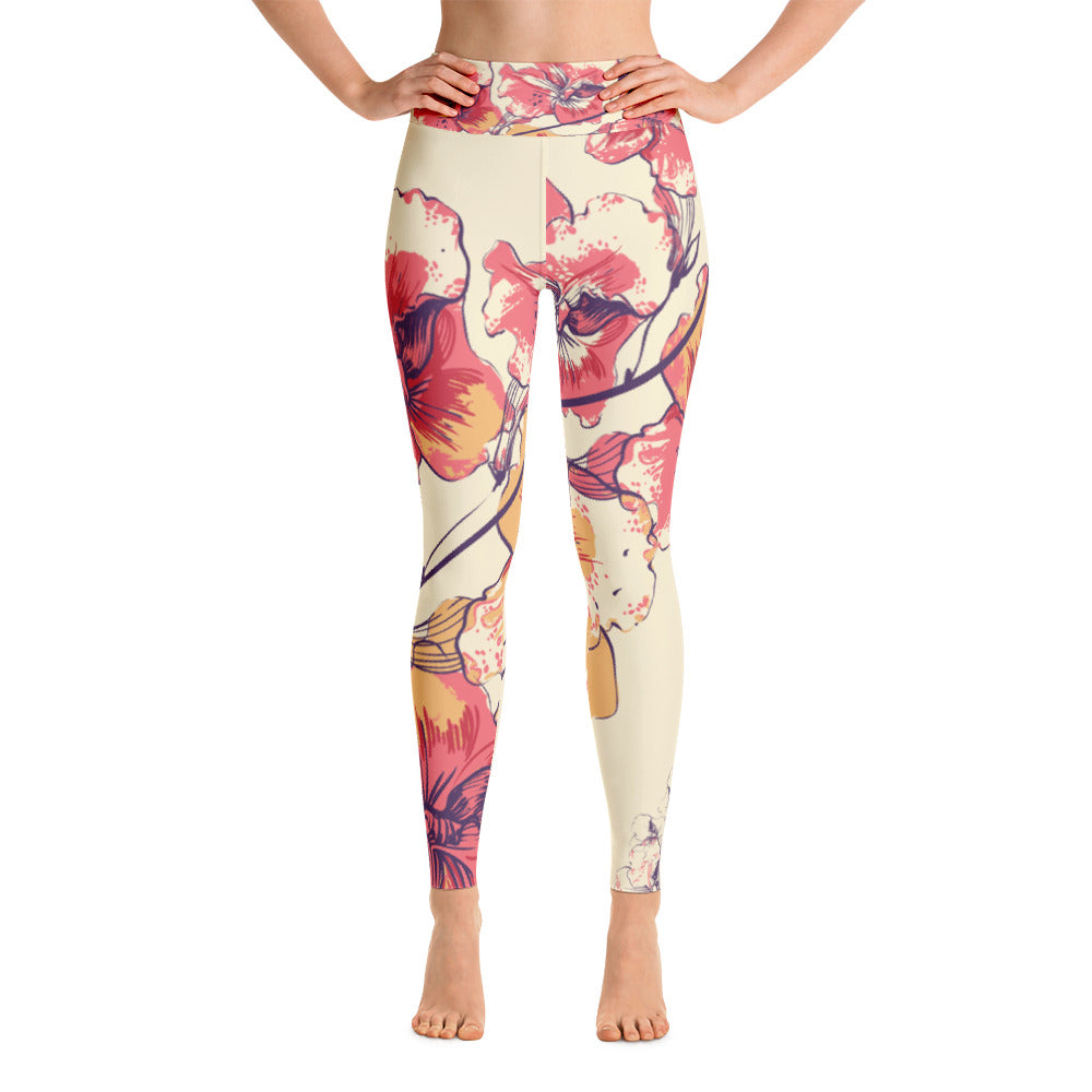 Wild Flower Yoga Leggings