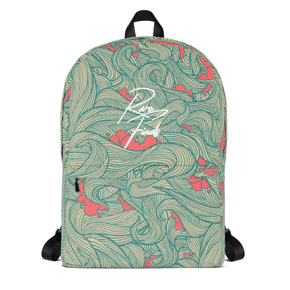 Red Wave Cloud Backpack