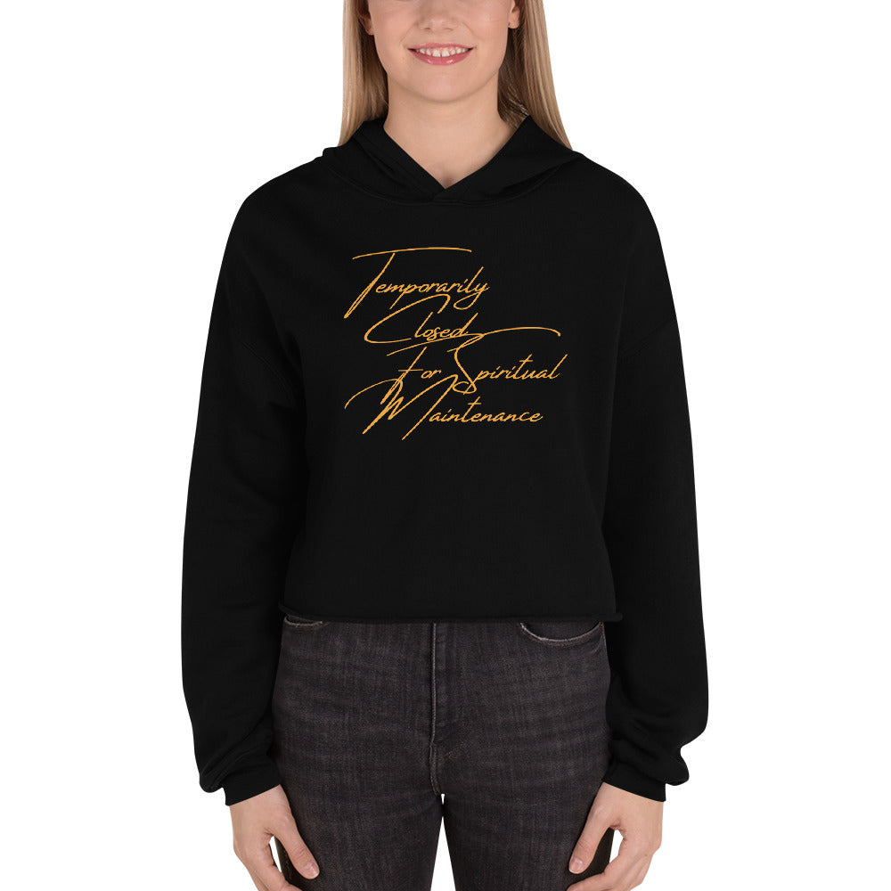 Scripted Spiritual Maintenance Crop Hoodie