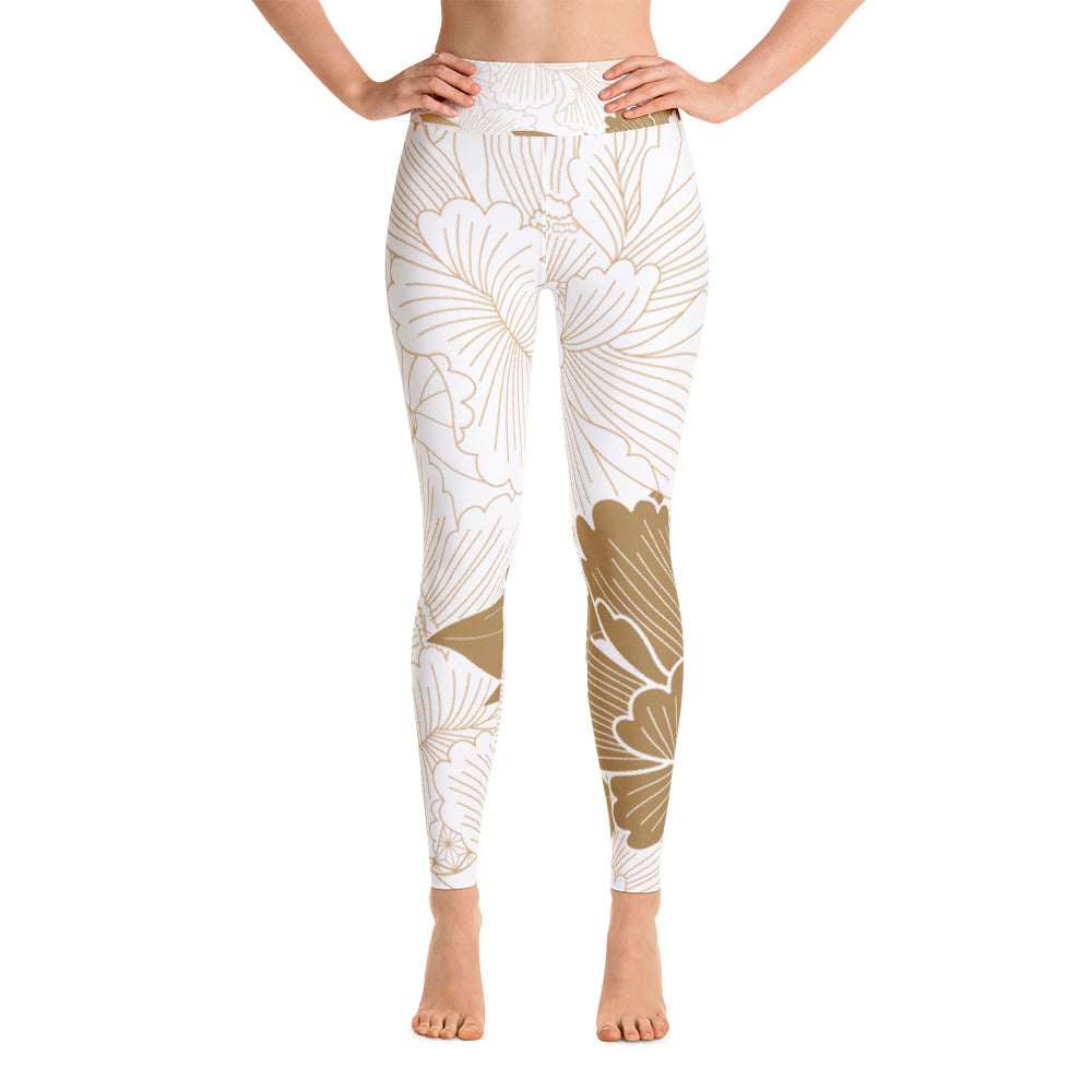 Golden FlowerYoga Leggings