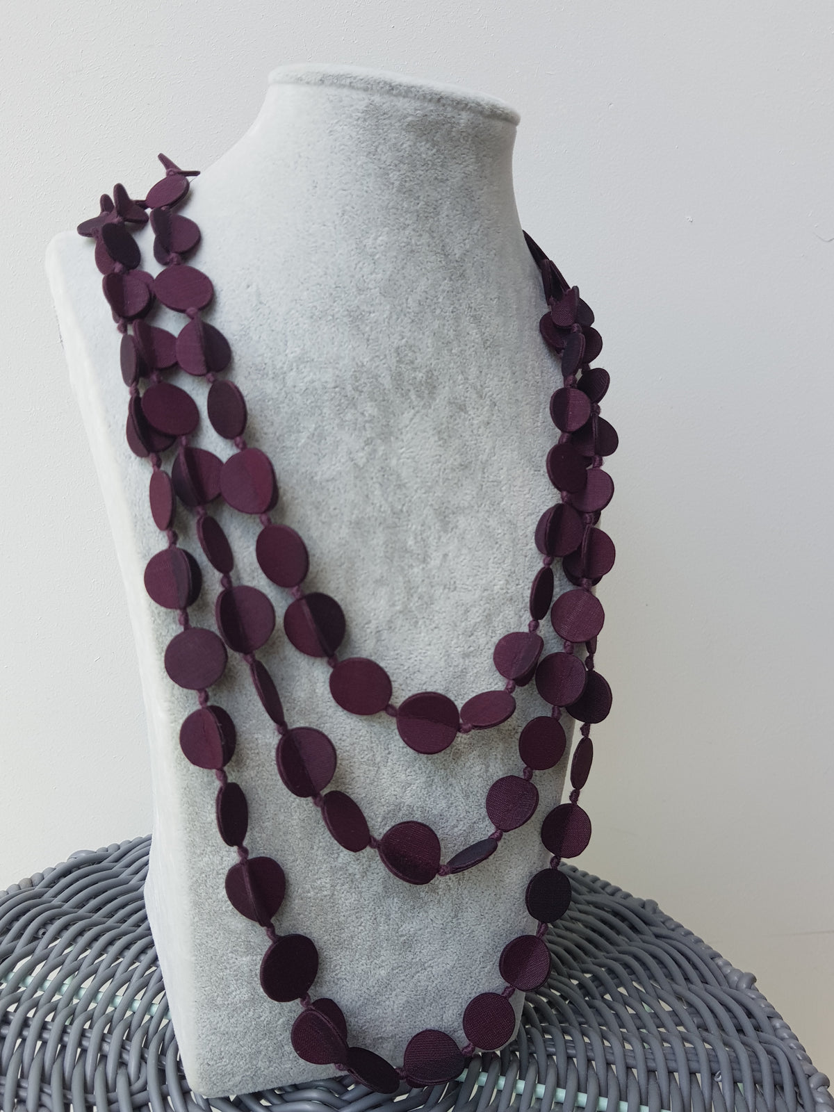 Three Layered Shaba Silk Necklace