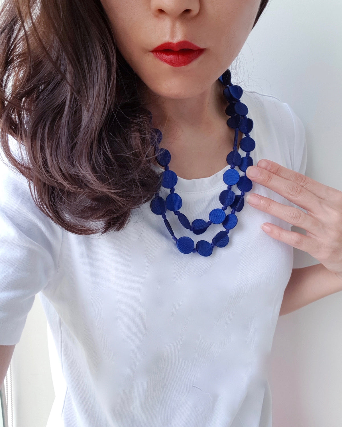 Shaba Silk Necklace (Stunning Blue)