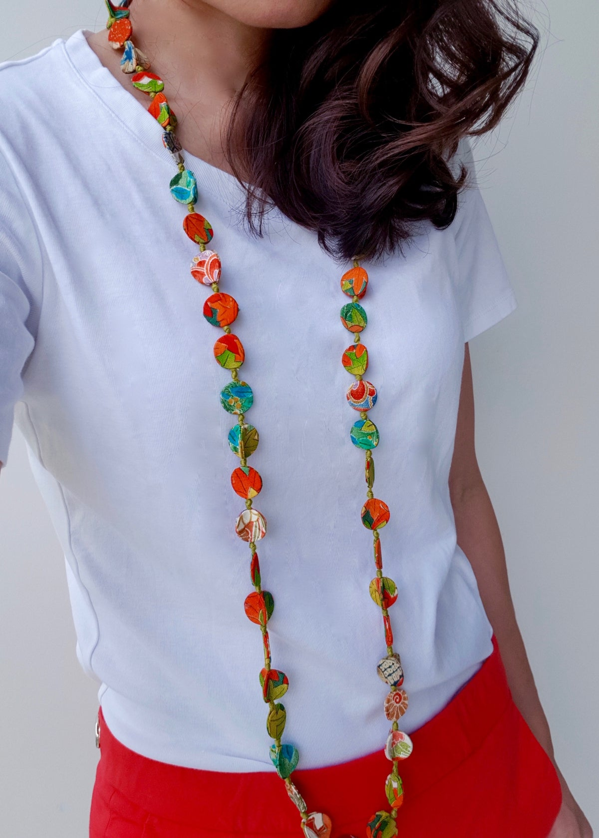 Shaba Silk Necklace (Mixed Forest colour)