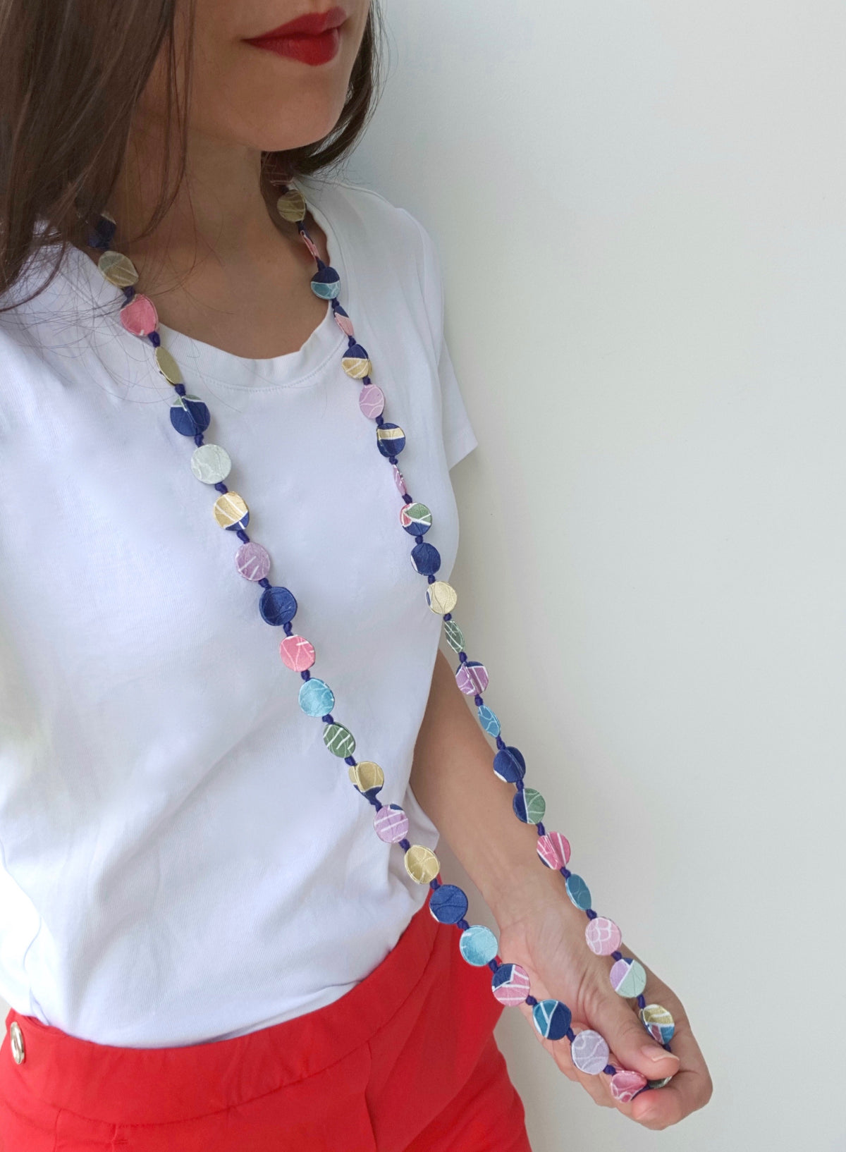 Shaba Silk Necklace (Mixed Pastel)