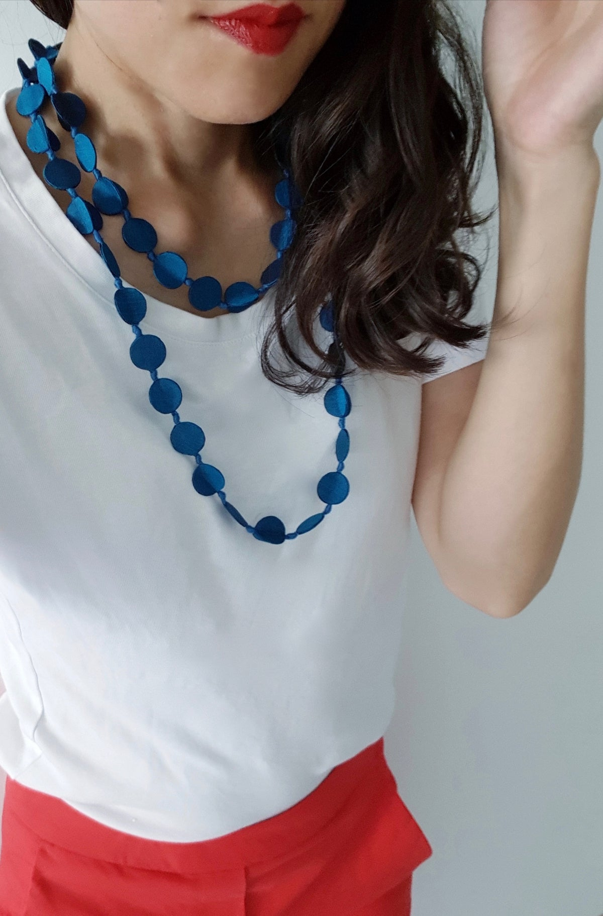 Shaba Silk Necklace (Turquoise)