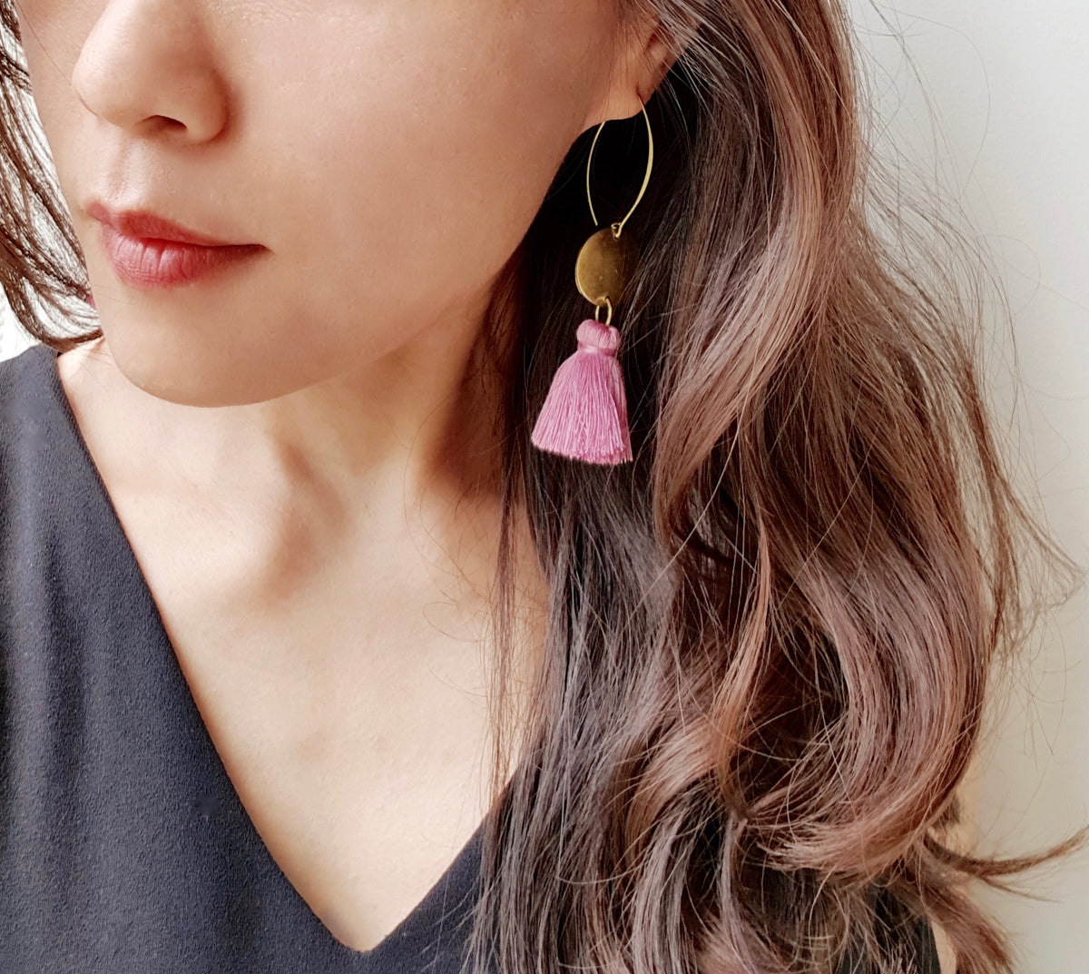 New Colour: Nara Tassel Earrings (Brick Brown)