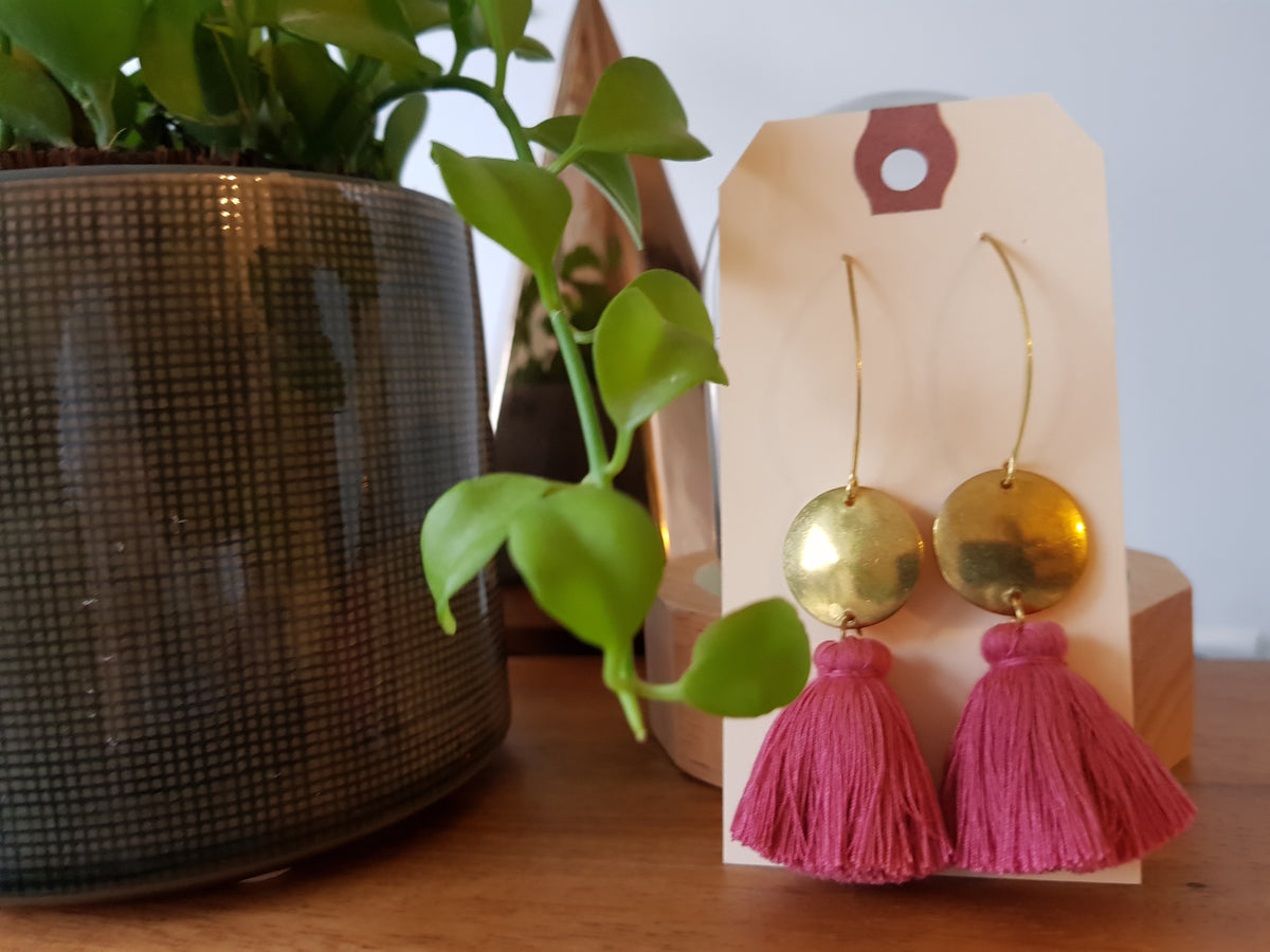 (3rd Restock) Nara Tassels Earrings Bubble Gum Pink