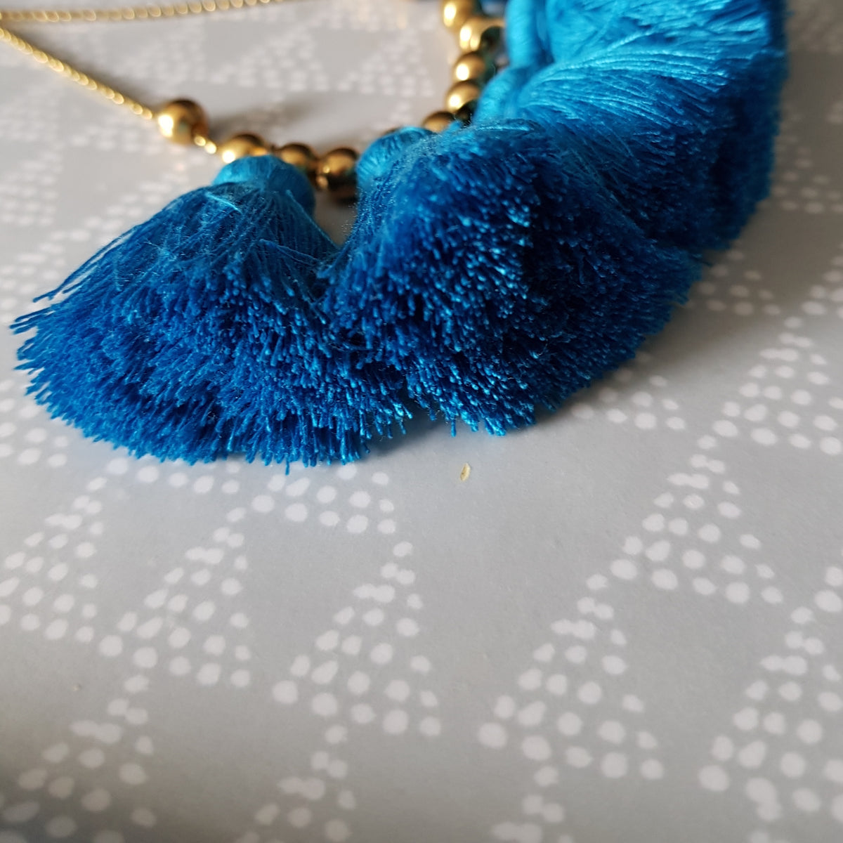 Nara Tassel Necklace (Blue)