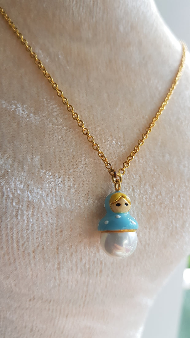 Rui Russian Doll+Pearl Necklace