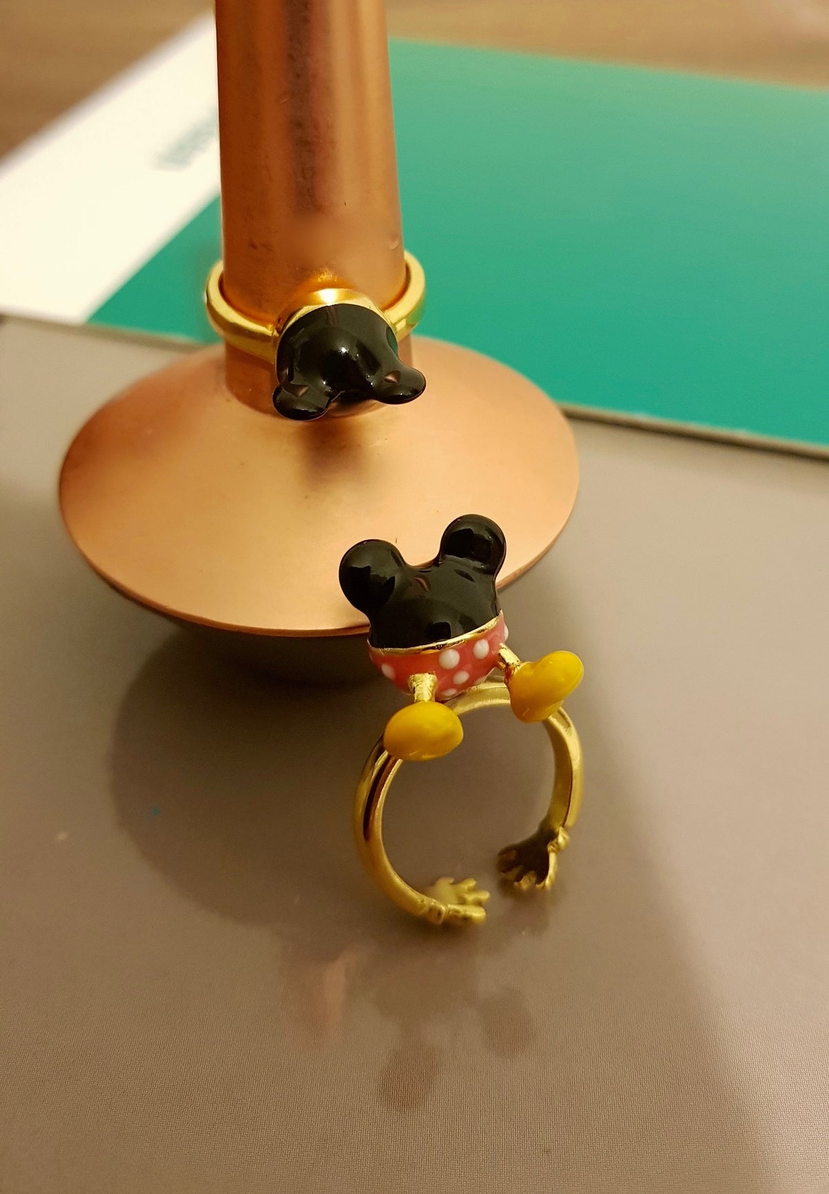 Bonjour Mickey Mouse Ring