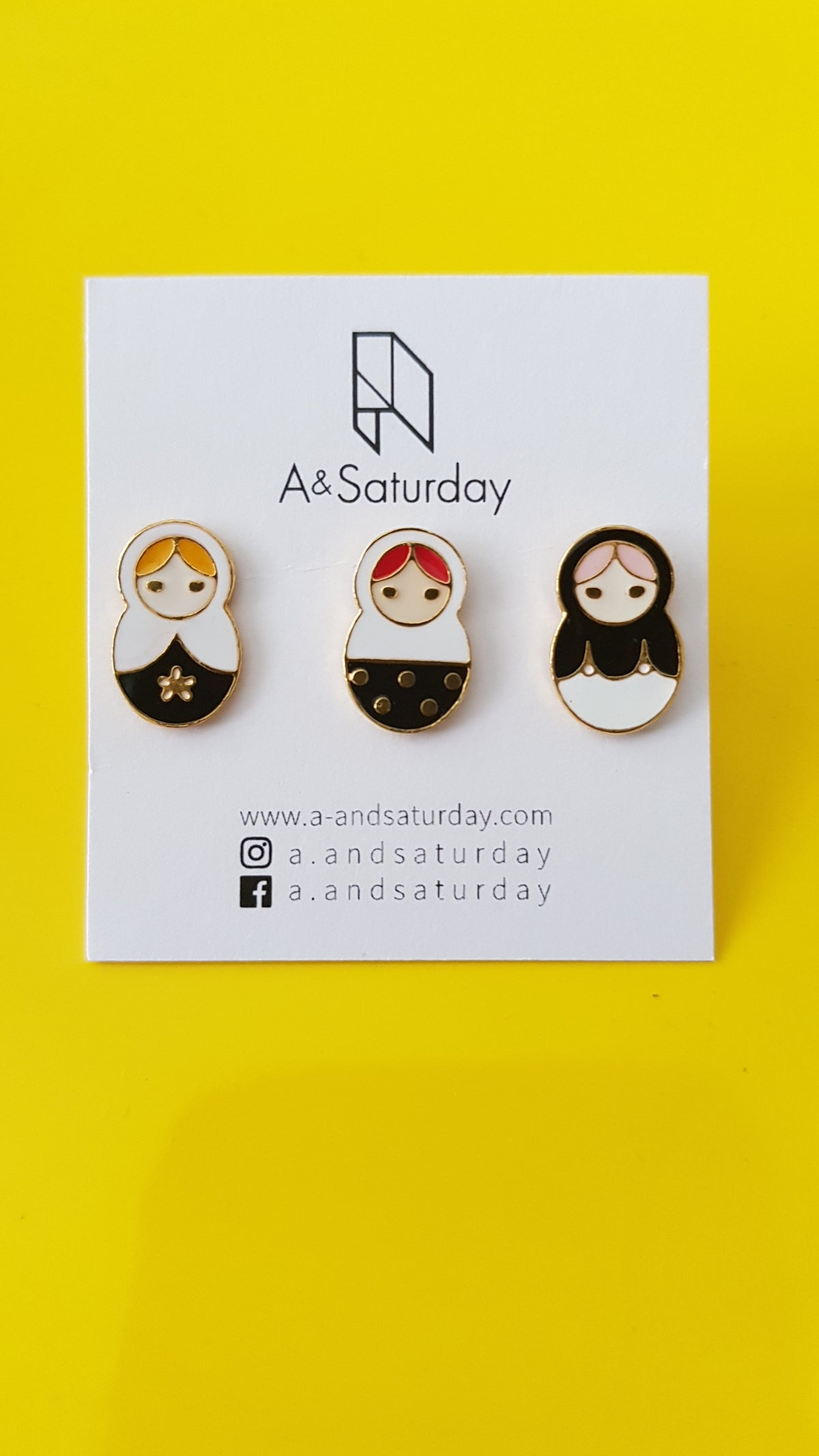 Yolanda Russial Doll Earrings (set of 3)