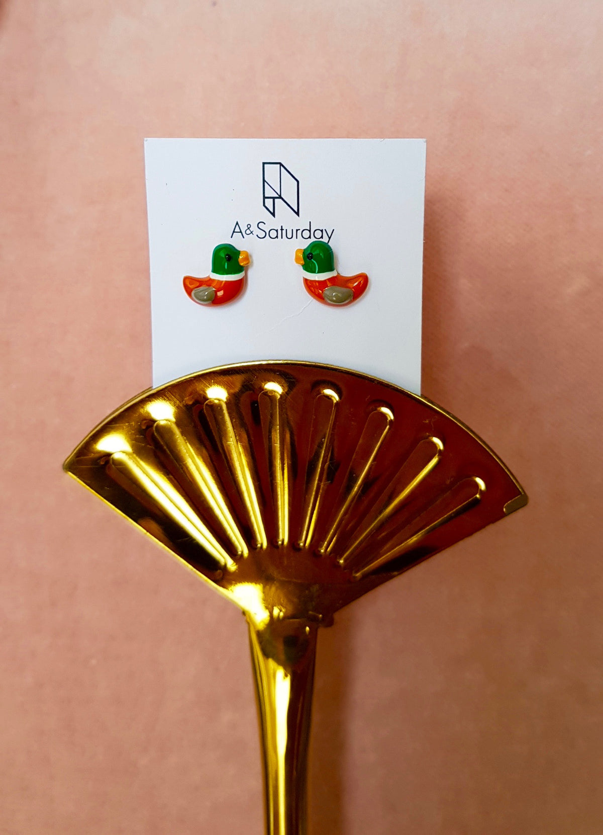 Nani Mandarin Duck Earrings