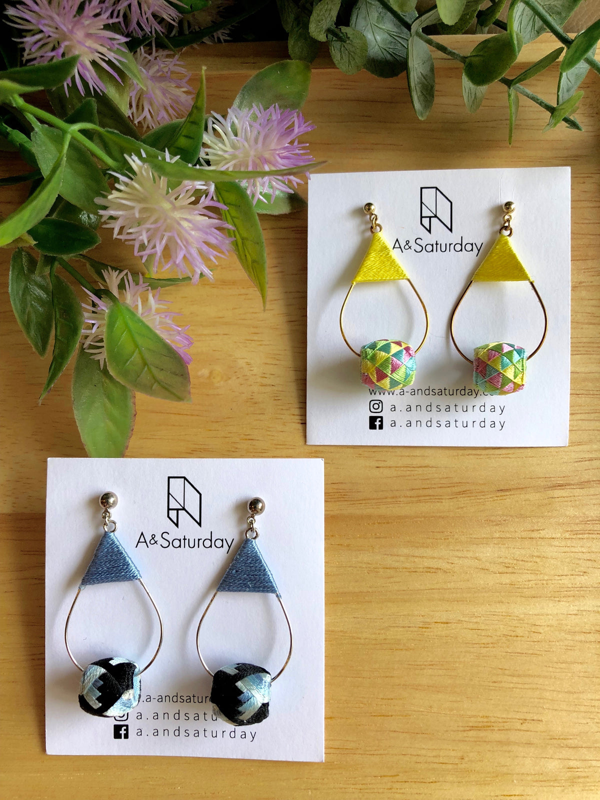 Edo Earrings Collection (Blue+ Black) 10% off