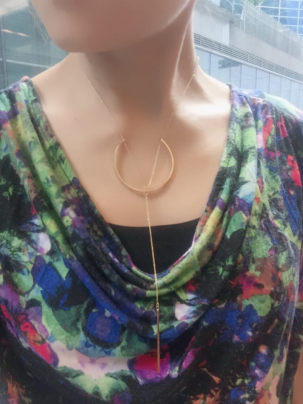 Moon V Necklace