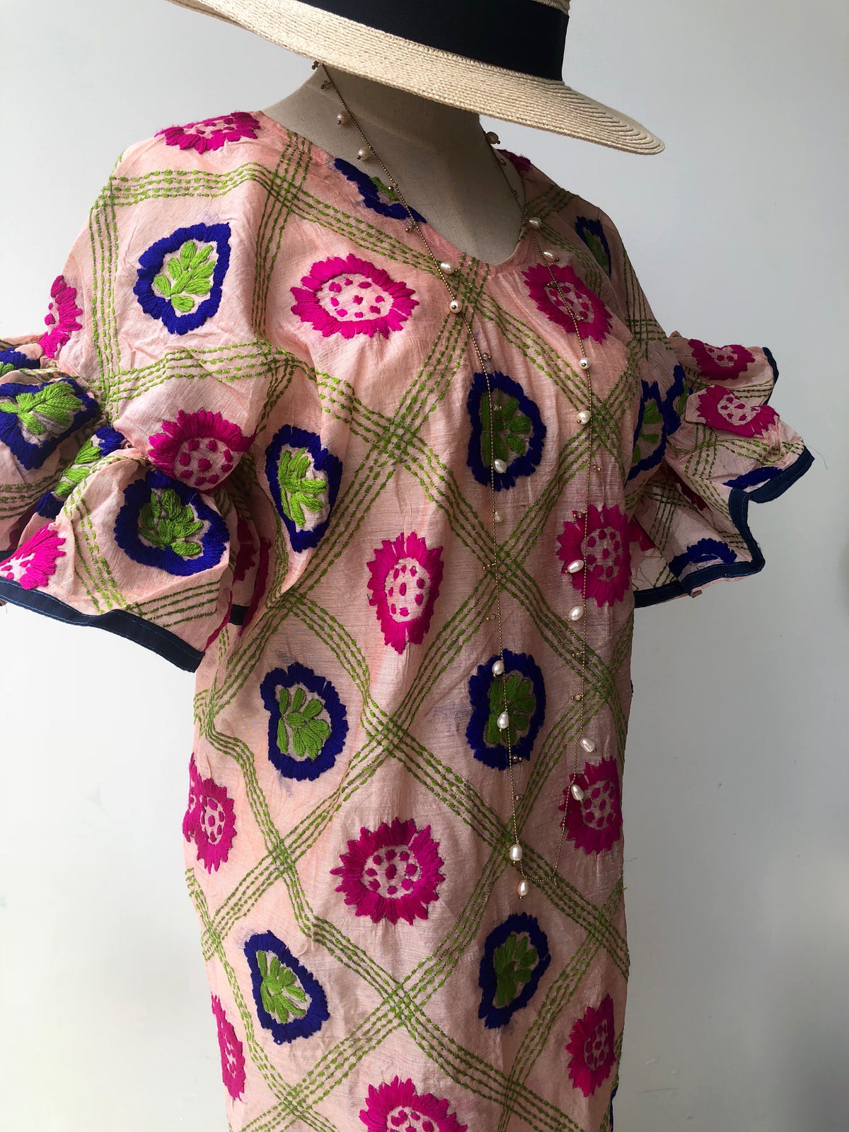 Dallini Hand Embroidered Dress