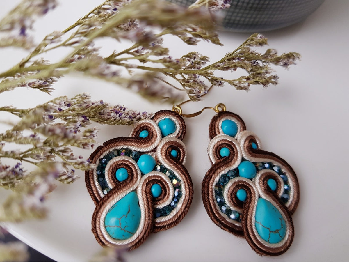 Brown Nitra Earrings