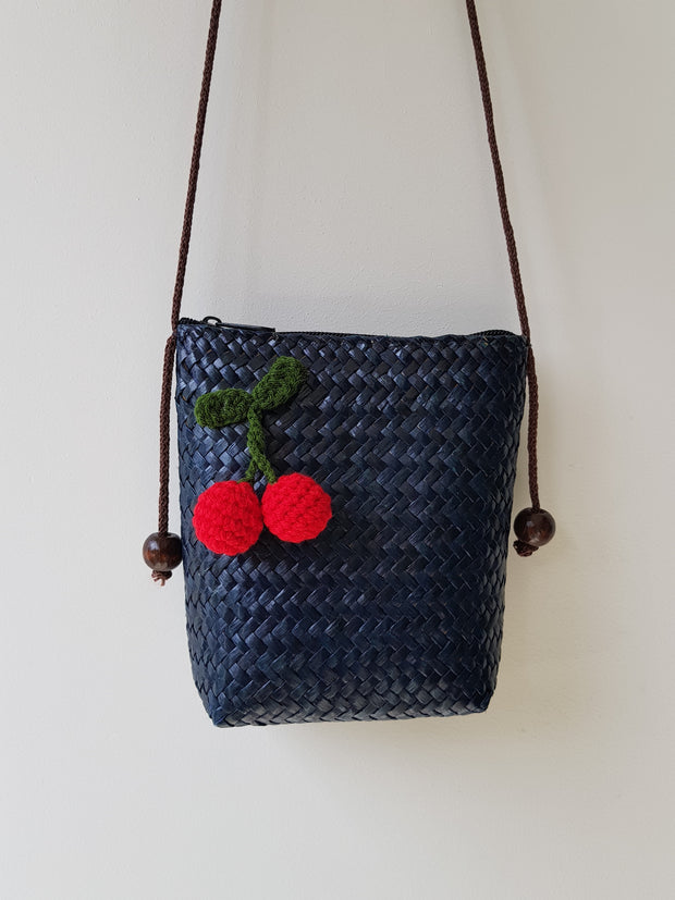 Happy Cherry Straw Bag