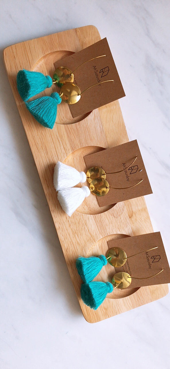(5th Restock) Nara Tassel Earrings- Turquoise