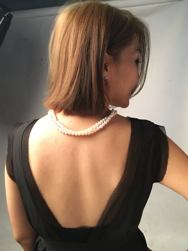 Zee Double Layered Pearl Necklace