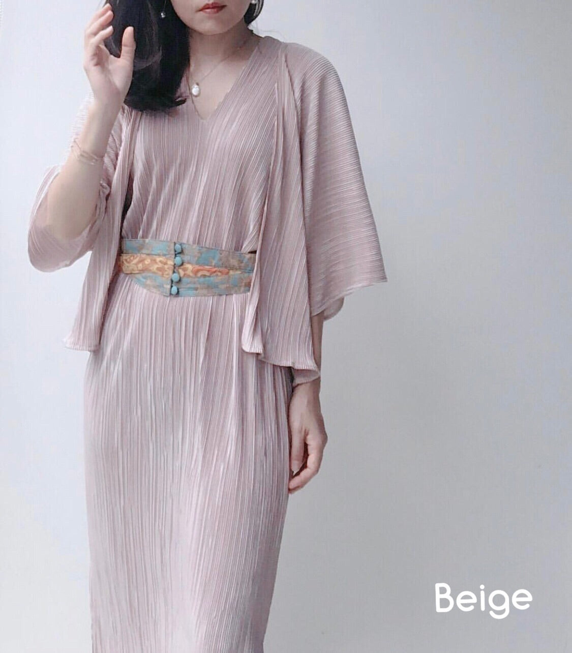 Maxi Serene Pleated Dress  (7th Restock)