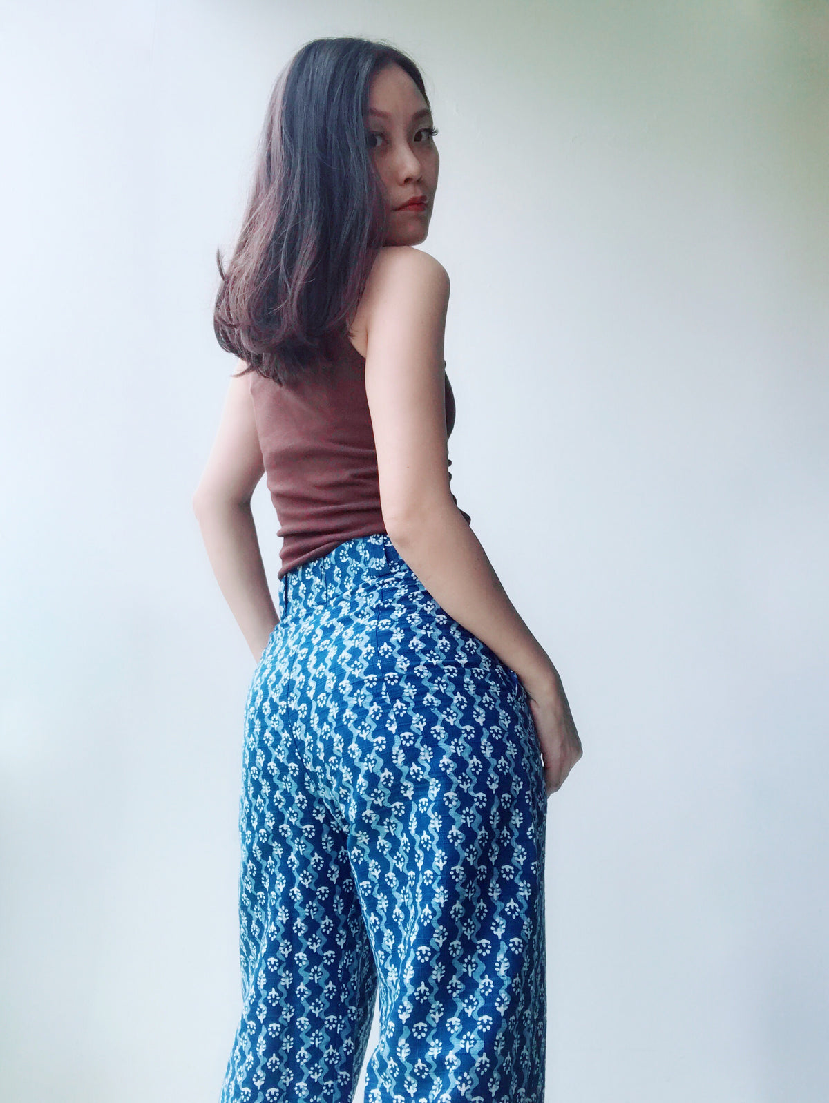 Sook Natural Indigo Dyed Pants