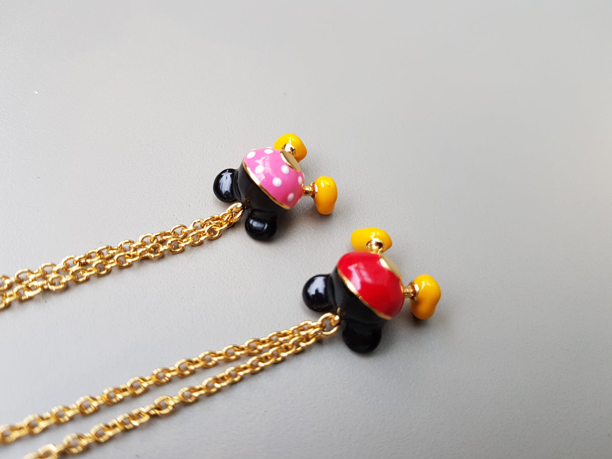 Happy Mickey Mouse Brass Necklace (for both adult&kid)