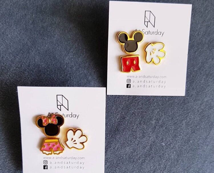 Mickey Mouse Mismatch Stud Earrings (Set of 3)