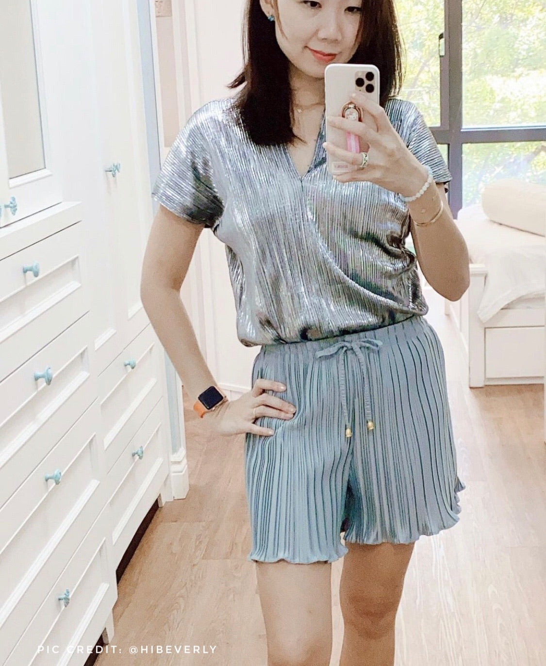 Donna Pleated Shorts