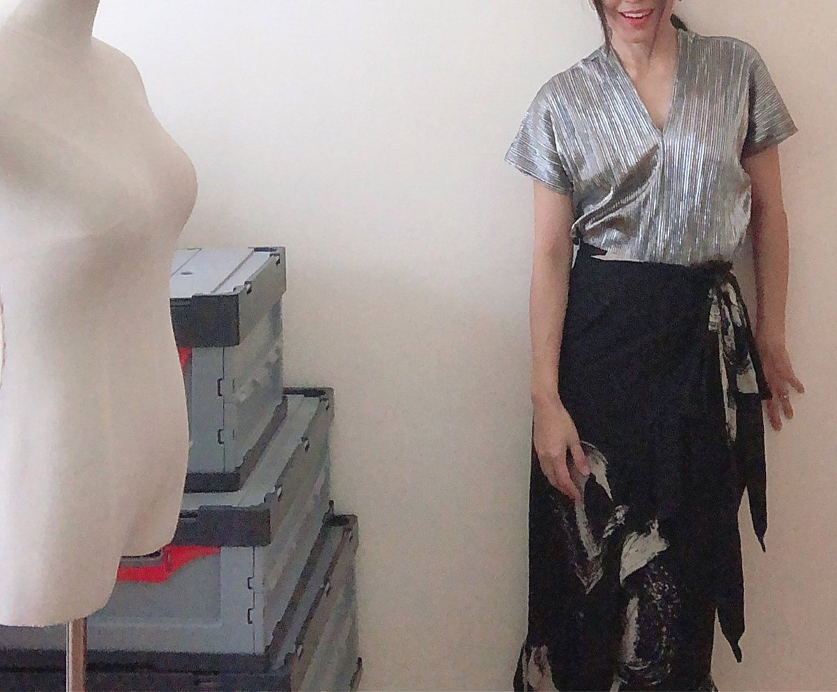 Suda Linen Wrap Skirt (Ready stock)