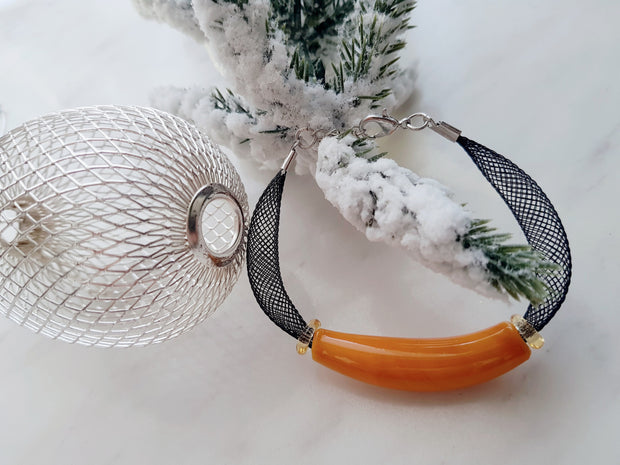 Murano Glass Bracelet (orange)