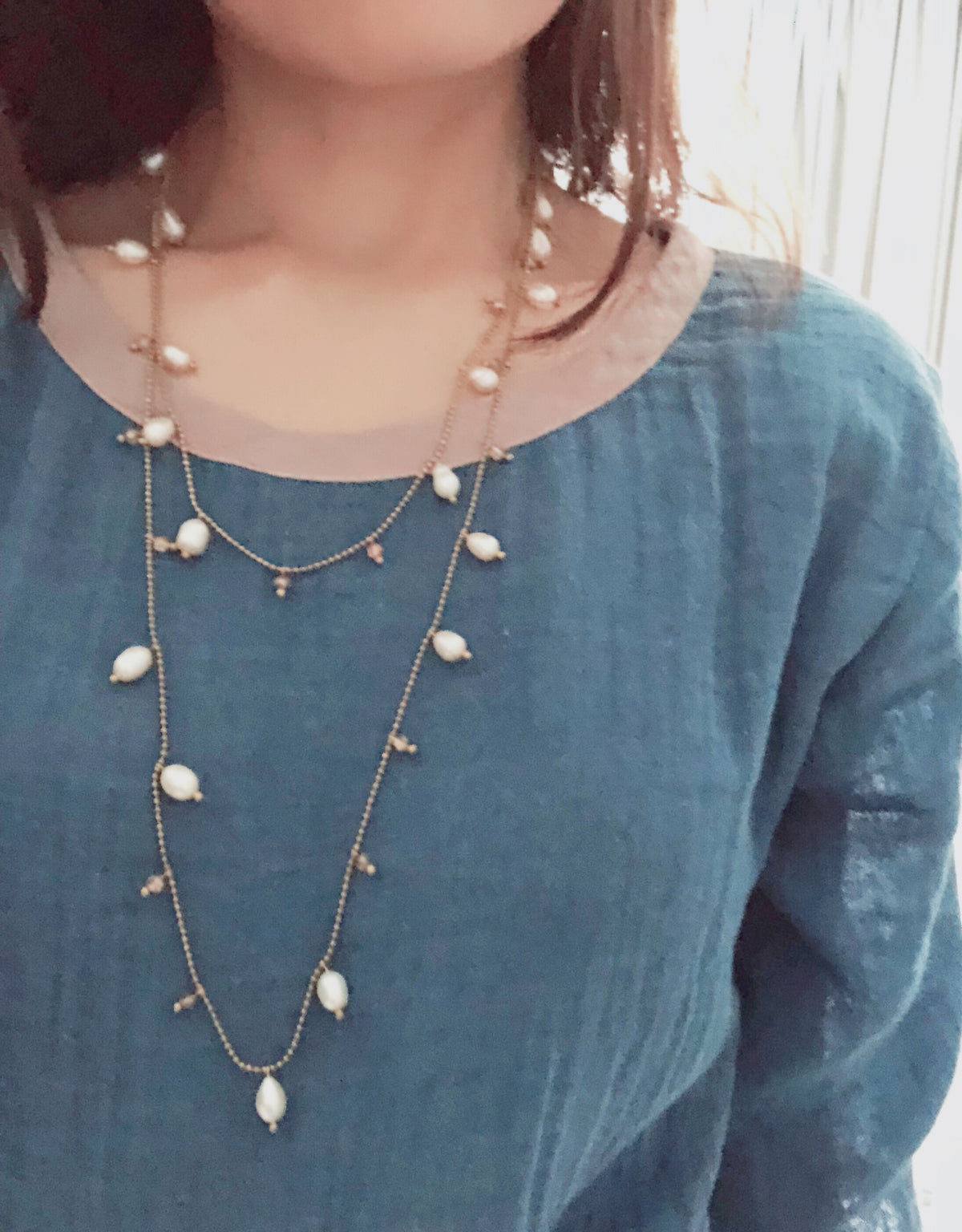 Yanya Double Layered Pearl Necklace