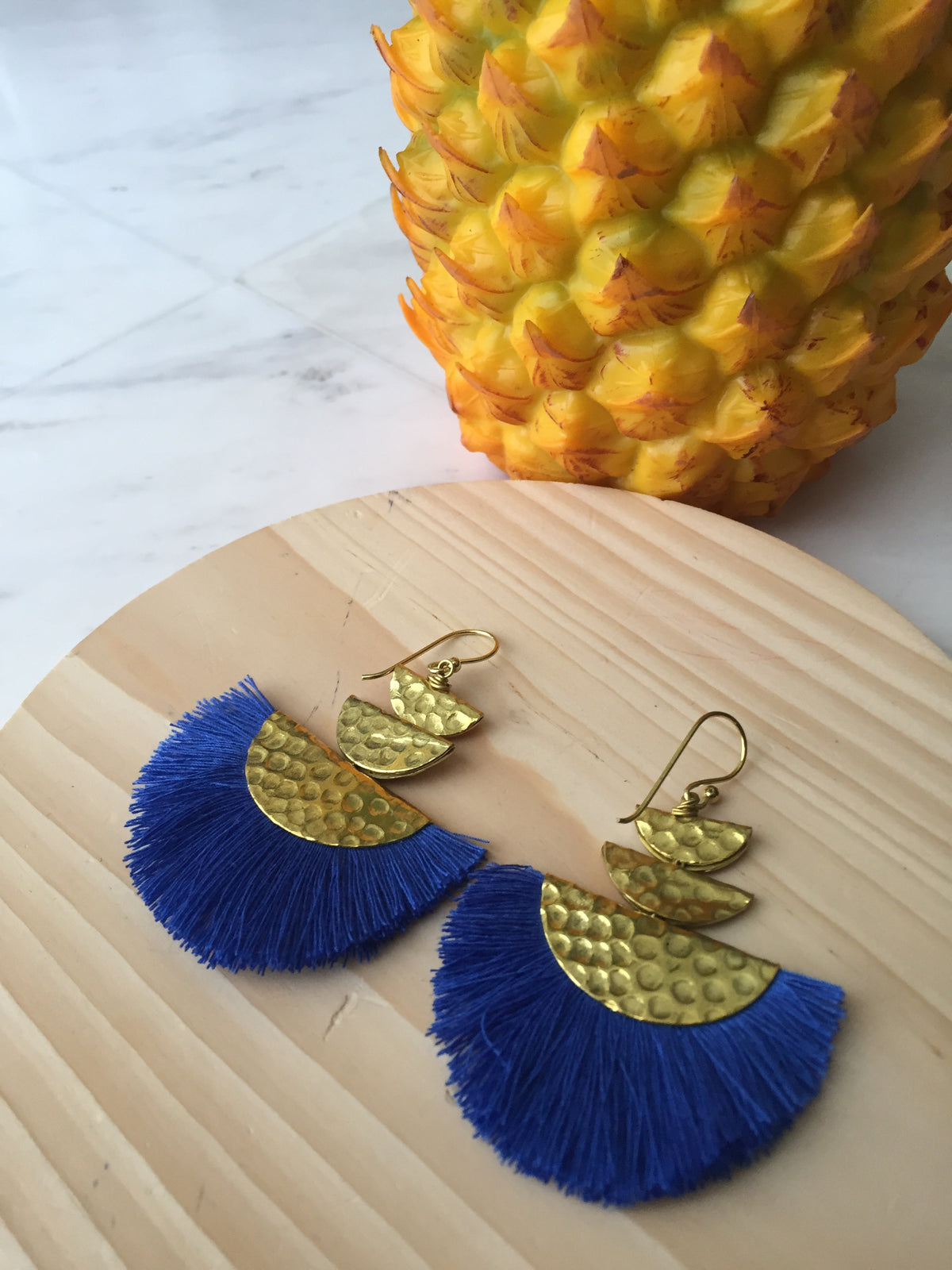 7th Restock- Del Mar Tassel Earrings Original (3 tiers half moon brass)